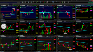 Francos trading charts and screen