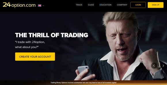 24option homepage Boris Becker
