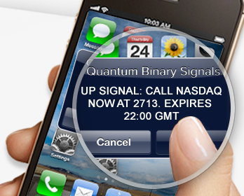 quantum signals sent to mobile