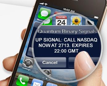 quantum signals sent to mobile