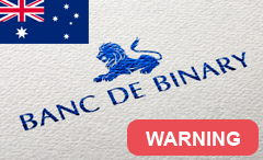 bank de binary warning