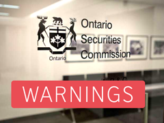 Ontario OSC warnings