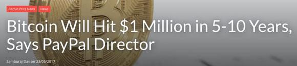 bitcoin to go to 1 million?